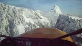 Mountain ski flight cloud dance