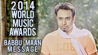 World Music Awards 2014 - Babbu Maan Message