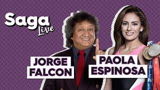 #SagaLive Paola Espinosa, Jo Jo Jorge Falcón y Martí Batres con Adela Micha.