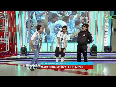 Humor: Maradona, Messi y Modric nos visitaron en La Revista