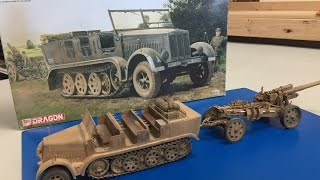 Building The Dragon 1/35 sdkfz 7 8 ton Halftrack in north Africa part 2