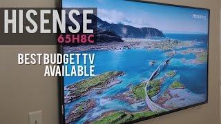 "Hisense 65H8C 4k HDR TV Review - Best Budget TV - $750 65""!"