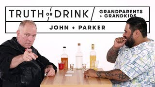 Grandparents & Grandkids Play Truth or Drink (John & Parker)   Truth or Drink   Cut
