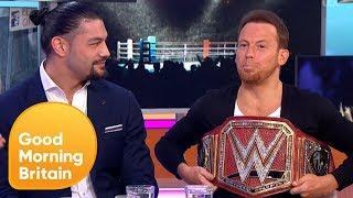 Joe Swash Tries to Take Roman Reigns' WWE Universal Champion Belt!   Good Morning Britain