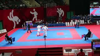 Jintar (INA) Vs Amirali Didar (KAZ) - Asian Games 2018 Kumite -67 Kg