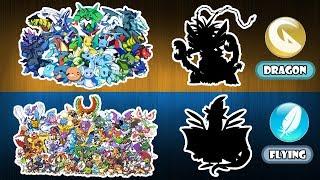 Pokemon Fusion Challenge - Dragon Type And Flying Type.