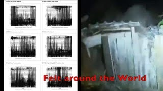 RAW: Video of violent shaking in Japan 7.1 quake | Buildings crumble