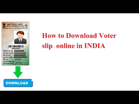 How to Download Voter slip  online in INDIA