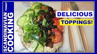 How To Make Danish Liverwurst Open Face Sandwich with Delicious Toppings 🍴