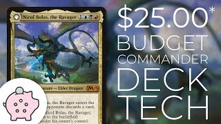 Nicol Bolas, the Ravager | EDH Budget Deck Tech $25 | Control | Magic the Gathering | Commander