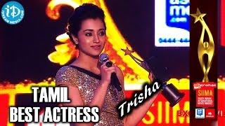 Trisha - SIIMA 2014 Award for Best Actress Tamil | Endrendrum Punnagai Movie