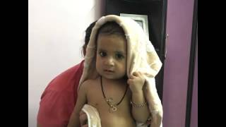 After bath Masti with mom