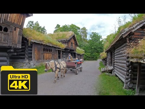 4K Beautiful Norway Village Life and Landscapes Stock Footages