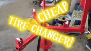 I got a motorcycle tire changer! Harbor freight changer with mojo blocks and lever