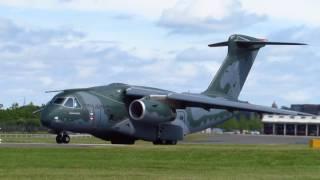 {SUPER RARE!!!} Força Aérea Brasileira Embraer KC-390 First Protoptype PT-ZNF Takeoff at FIA16
