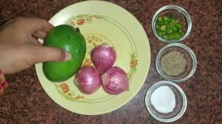 Aam Aur Pyaz ki Chutney   Mango Chutney Recipe   Green Mango Onion Chutney