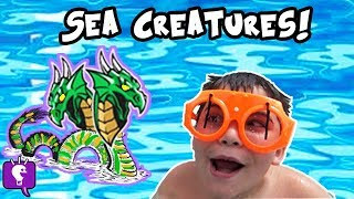 SEA MONSTER ATTACKS! Sharks in Water + Fishy