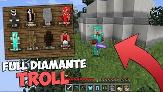 MINECRAFT TROLL | SE CREEN QUE VOY FULL DIAMANTE Y ES FALSA