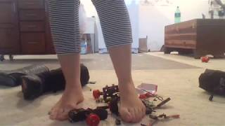 Candice Can Crush A Remote Control CAR in Snow Boots #2