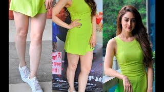 Sandeepa Dhar Hot Milky Legs In Short Jumpsuit At Baaraat Company Promotion