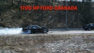 1700hp Ford Granada (NO TRACTION) Vs. Mitsubishi EVO 9