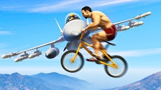 99.98% IMPOSSIBLE BIKES VS PLANES! (GTA 5 Funny Moments)
