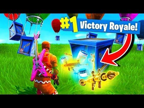 Using ONLY SUPPLY DROPS To WIN Fortnite Battle Royale