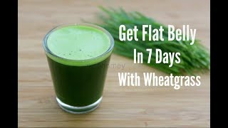 Get Flat Belly/Stomach In 7 Days - No Diet/Exercise - 100% Natural Wheatgrass Green Detox Diet Drink