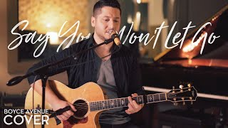 Say You Wont Let Go  James Arthur Boyce Avenue Acoustic Cover On Spotify  Itunes