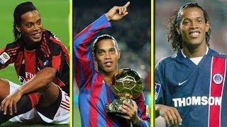 Ronaldinho DESTRUINDO seus Adversários na Europa - Barcelona, PSG e Milan