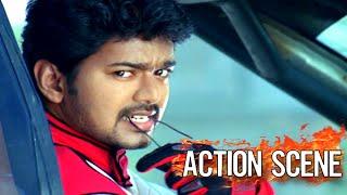 Malayalam Movie Action Scenes # Kuruvi Car Race Scene  # Vijay Action Scenes HD