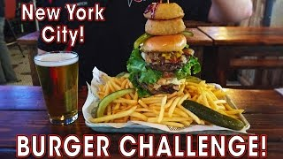 New York Burger Eating Challenge w/ Fries and Beer!