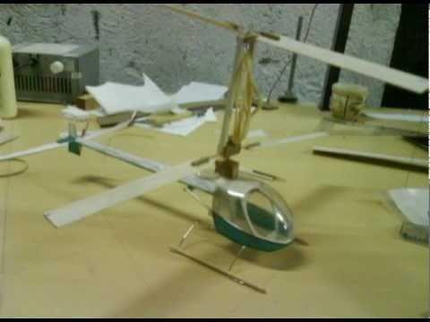 Helicóptero com motor de propulsão a elástico vôo livre helicopter rubber