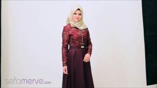 SefaMerve Tesettür Abiye Modelleri 2017