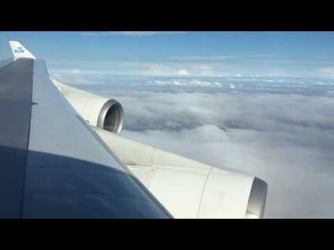 Paramaribo PBM landing - KLM B747-400
