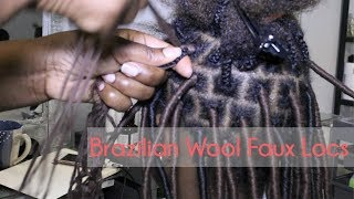 Crochet Faux Locs With Brazilian Wool Hair