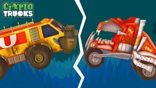Tug Of War | Crypto Trucks | Good vs Bad | Sasquash vs Funky Truck | Monster Truck Videos