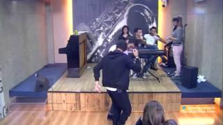 حفلة راقصة مع الطلاب في قاعة المسرح - ستار اكاديمي 11 - 24/01/2016