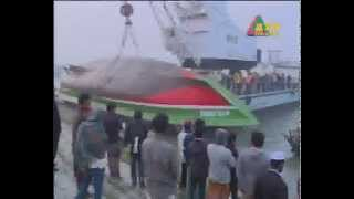 Passenger launch MV Mostofa, which capsized in Paturia-Daulatdia river route salvaged.