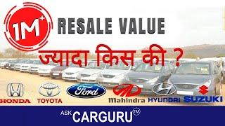 Top Cars on Resale Value, CARGURU ने 12 Cars बतायी,  Toyota, Hyundai, Maruti, Mahindra & ford