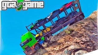 GTA 5 Mods - Descendo o Monte Chiliad na CARRETA CEGONHA! (GTA V Mod Gameplay)