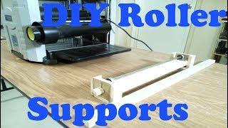 DIY roller stands for thicknesser, bandsaw
