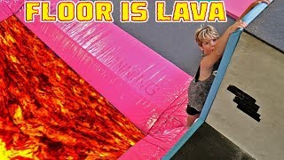 FLOOR IS LAVA AT TRAMPOLINE PARK!