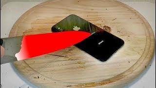 РАСКАЛЕННЫЙ НОЖ в 1000 ГРАДУСОВ VS. iPHONE X
