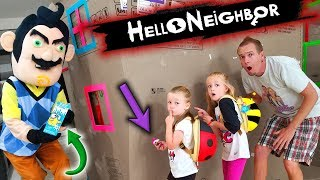 Hello Neighbor in Real Life Toy Scavenger Hunt!! Lost Kitties, LOL Dolls, Polly Pocket,....