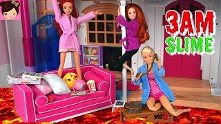 Barbie Dolls Play Floor is Lava and 3 AM Slime Challenge - Royal High Ep 15 - Doll Toy Show