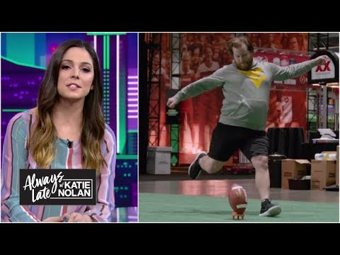 Fans who sent mean tweets about kickers try to make real field goals Always Late with Katie Nolan