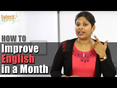 How to Improve English in a Month || TalentSprint