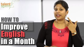 How to Improve English in a Month || Talent Sprint