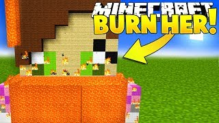 BURNING POPULARMMOS IN MINECRAFT?!